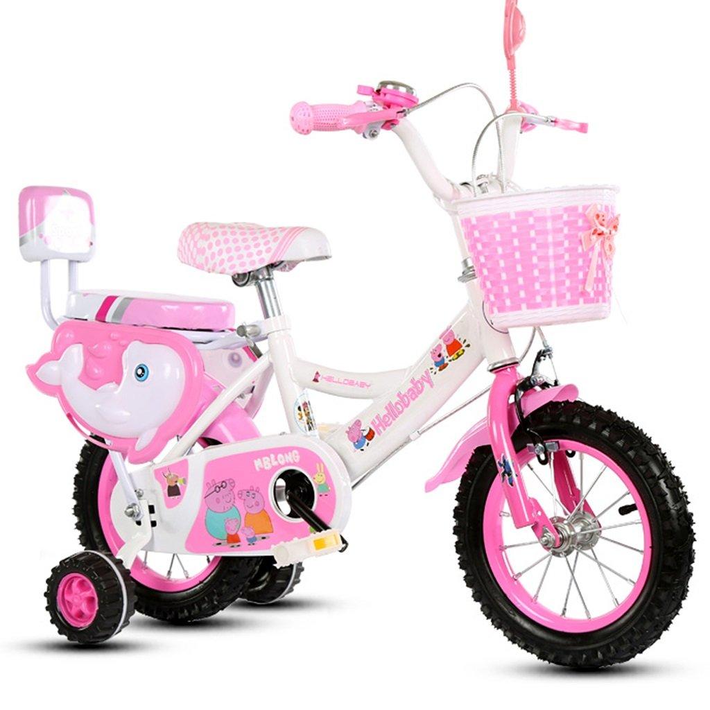 Bicicletas Infantiles niños niños y niñas niños con 3/6/8 año de Edad niños (Color : Pink, Size : 16 Inches)