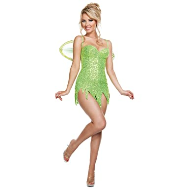 Fairy Adult Costume - Medium  sc 1 st  Amazon.com & Amazon.com: Deluxe Sequin Green Fairy Costume Sequin Fairy Costume ...