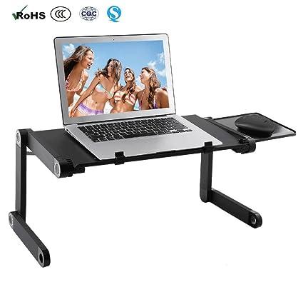 Flawbearn ALKK Laptop Table, Soporte Ergonómico para Ordenador Portátil, Ventilador, Soporte para Ratón