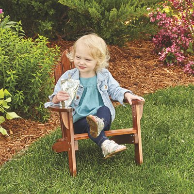 Maxim Child's Adirondack Chair. Kids Outdoor Wood Patio Furniture for Backyard, Lawn & Deck