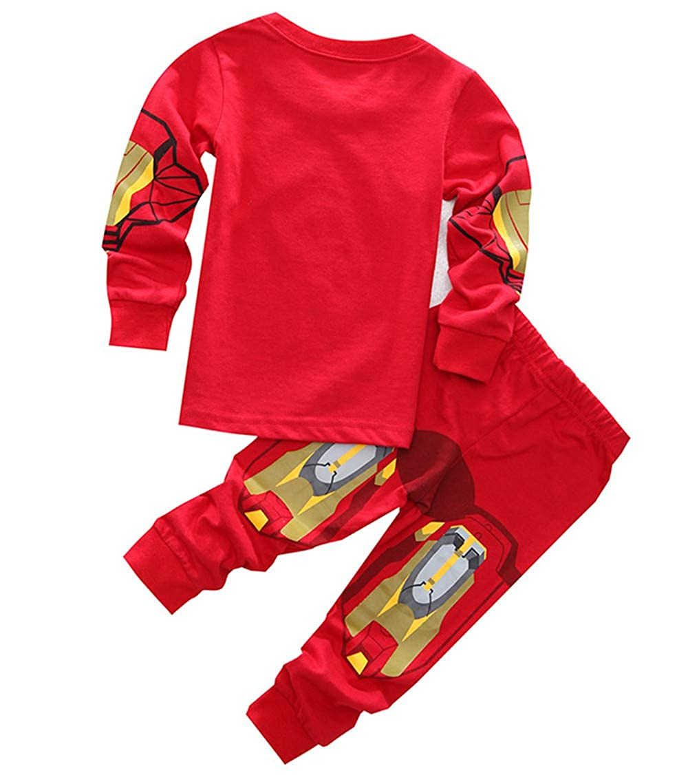 Boys Pajamas Sets Children Christmas Pants 100/% Cotton Spider-Man Long Kids Snug Fit Pjs Winter Toddler Sleepwear
