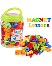 Coogam Magnetic Letters Numbers Alphabet Fridge Magnets Colorful Plastic Educational Toy Set Preschool Learning Spelling Counting Includes Uppercase Lowercase Math Symbols for Toddlers (78 Pcs)