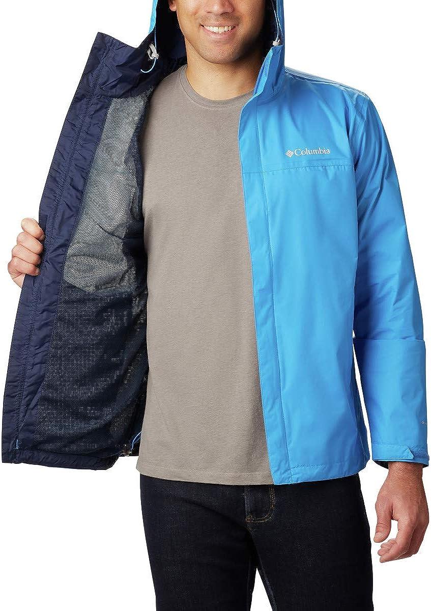 Columbia Mens Watertight II Waterproof Medium Azure Blue Breathable Rain Jacket