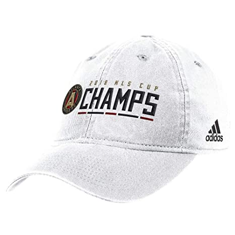 50010c37558 Image Unavailable. Image not available for. Color  adidas Atlanta United FC  2018 MLS Cup Champions White Slouch Adjustable Hat Cap