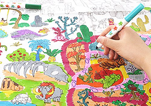 Giant Wall Size Coloring Poster Huge Graffiti Coloring Wall Decor Coloring Page for Kids Adults, 45.3