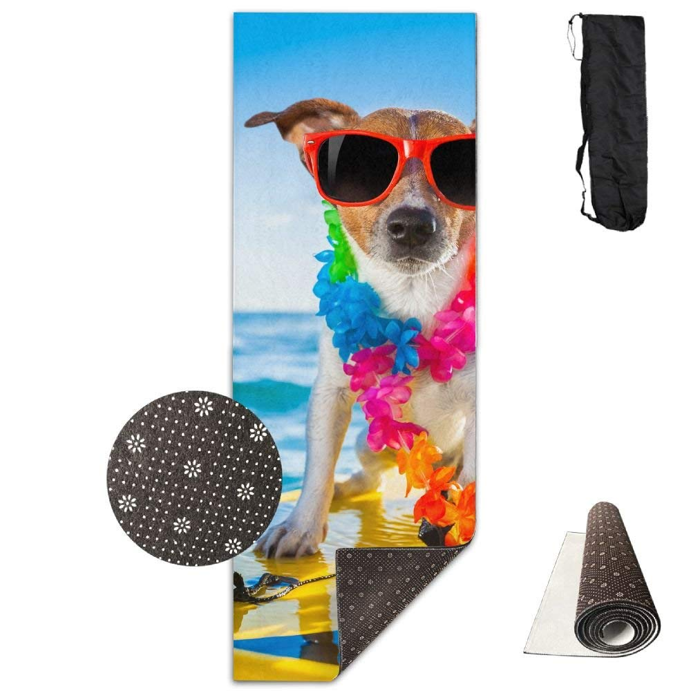 Cool Dog Surfing Deluxe,Yoga Mat Aerobic Exercise Pilates Anti-slip Gymnastics Mats
