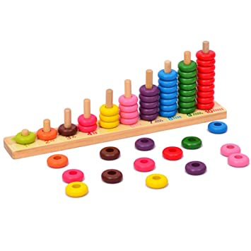 Amazoncom Wooden Educational Counting Toys Math Abacus Number