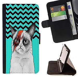 King Case - FOR Sony Xperia M2 - All sorrows end - Prima caja de la PU billetera de cuero con ranuras para tarjetas, efectivo Compartimiento desmontable y correa para la mu?eca