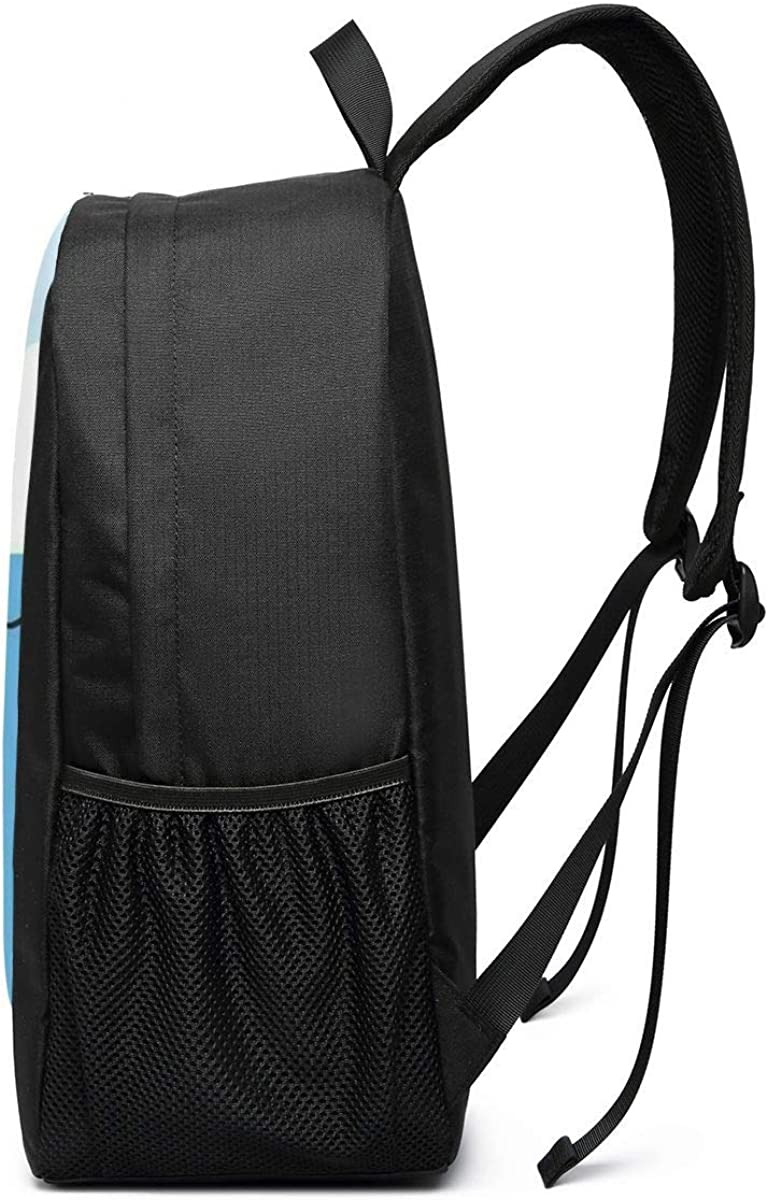 Swimming Kitty Large Laptop Bag Travel Hiking Daypack For Men Women School Work Backpack 17 Inch