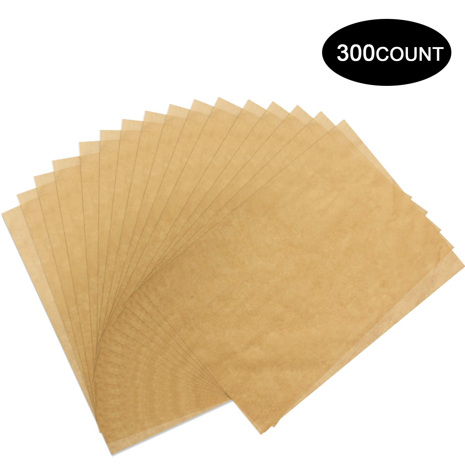 300 Pcs Parchment Paper Sheets, OAMCEG 12x16'' No Chemical Non-Stick Unbleached Precut Parchment Paper for Baking Grilling Air Fryer Steaming Bread Cup Cake Cookie and More by OAMCEG