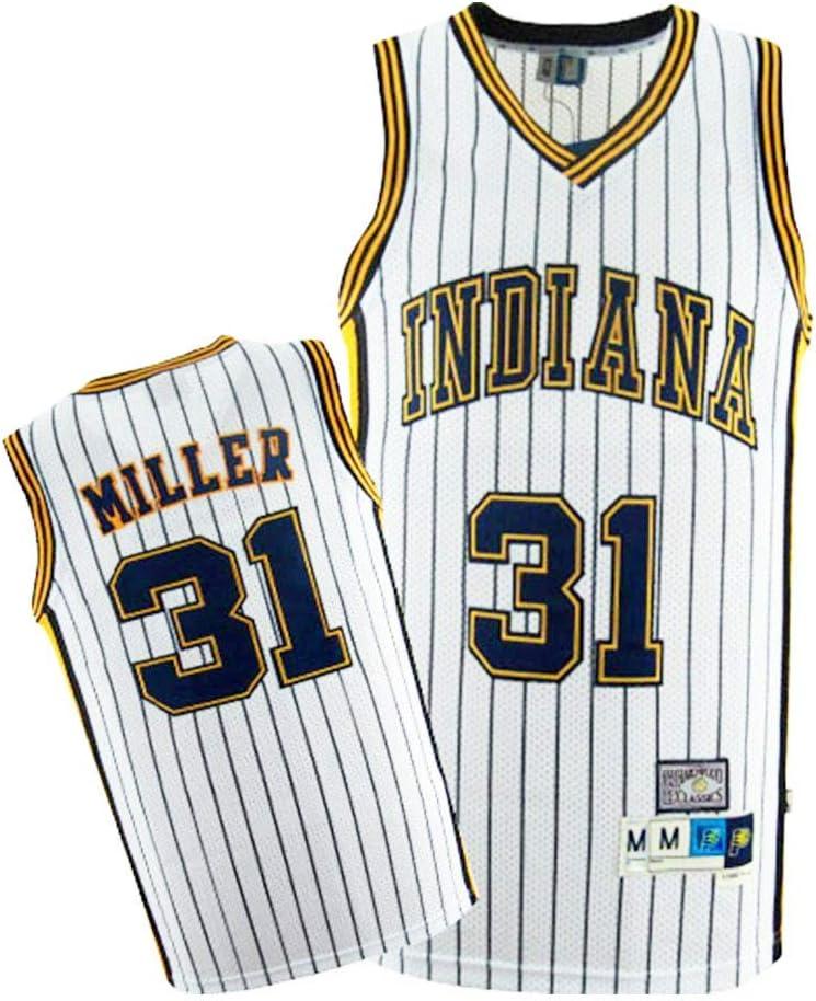 Cool Swingman Fabric Swingman Camiseta Unisex Cl/ásica Sin Mangas,Amarillo,S:170cm//50~65kg CCKWX Jerseys De Baloncesto para Hombre Indiana Pacers # 31 Reggie Miller Jersey