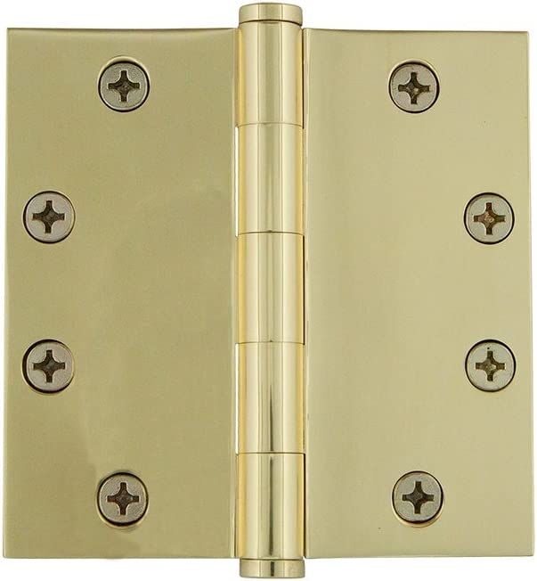 4 x 4, Grandeur Hardware 821207 4 Button Tip Heavy Duty Hinge with Square Corners in Timeless Bronze