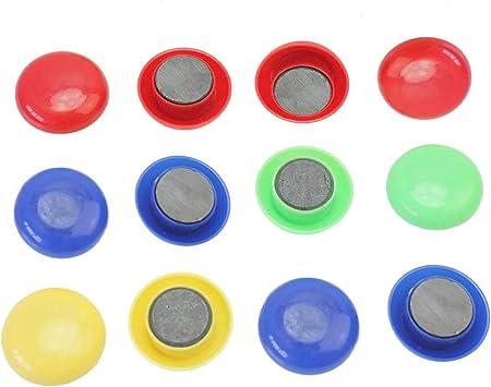 Calamite Rotonde Piccoline Magneti per Lavagna Magnetica e Frigo Magneti Autoadesivi in Ferrite