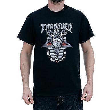 271e87585a0 Thrasher Magazine Goddess T-Shirt Black: Amazon.co.uk: Clothing