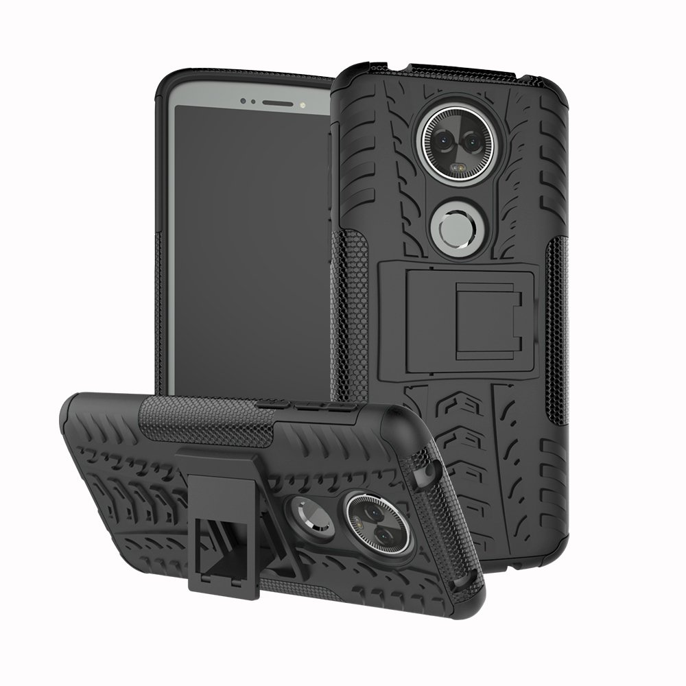Moto E5 Plus/Moto E5 Supra Case, FoneExpert Heavy Duty ShockProof Rugged Impact Armor Hybrid Kickstand Protective Bag Cover Case For Motorola Moto E5 ...
