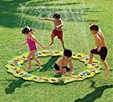 Inflatable Portable Splash Pad toys – anthonygift 66in cartoon spray water sprinkler ring toys for summer outdoor swimming beach lawn sprinkler party children kids