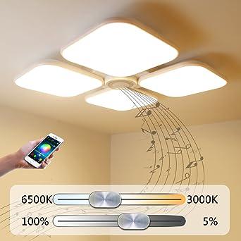 Led Deckenleuchte Deckenlampe Dimmbar Mit Bluetooth Funktion 72WBluetooth Lautsprecher Fur Wohnzimmer
