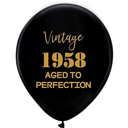 Globos negros vintage 1958 - 12 pulgadas (16 piezas) para ...