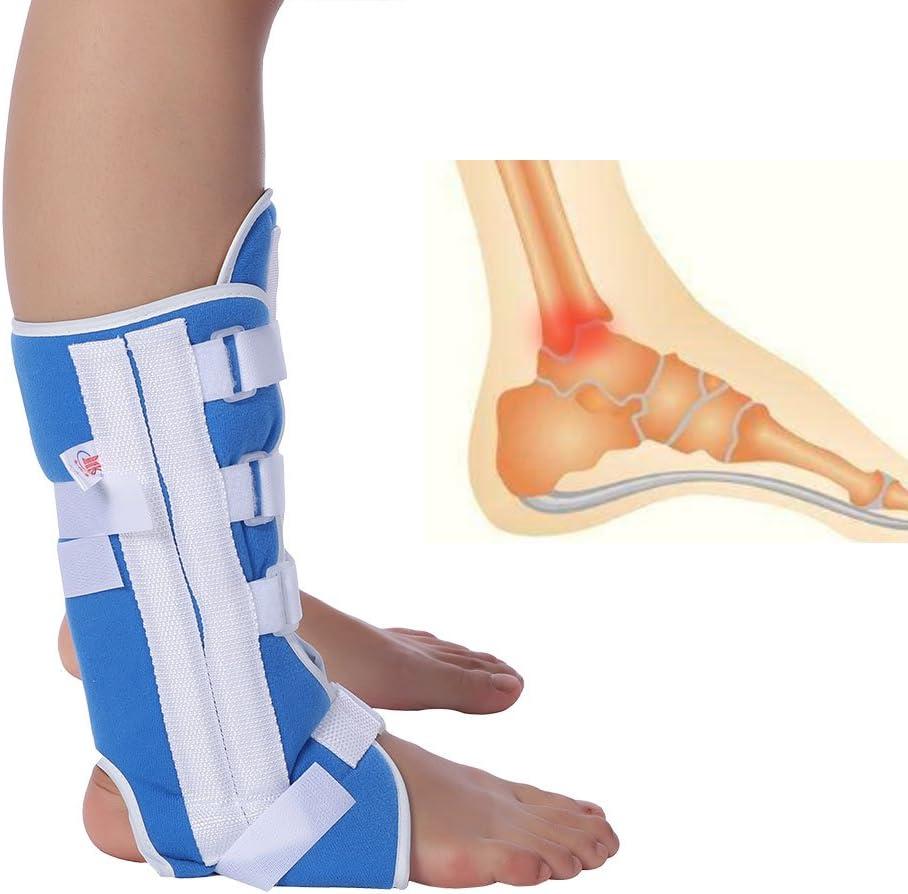 Soporte para colocar el pie, soporte ajustable para la articulación de la rodilla Correa del tobillo Ortesis Soporte para la correa del esguince Herramienta de soporte de fijación del esguince(S)