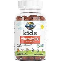 Garden of Life Kids Organic Vitamin D3 Gummies, Orange Flavor - 800 Iu (100% Dv) for Immunity & Strong Bones, Sugar Free…