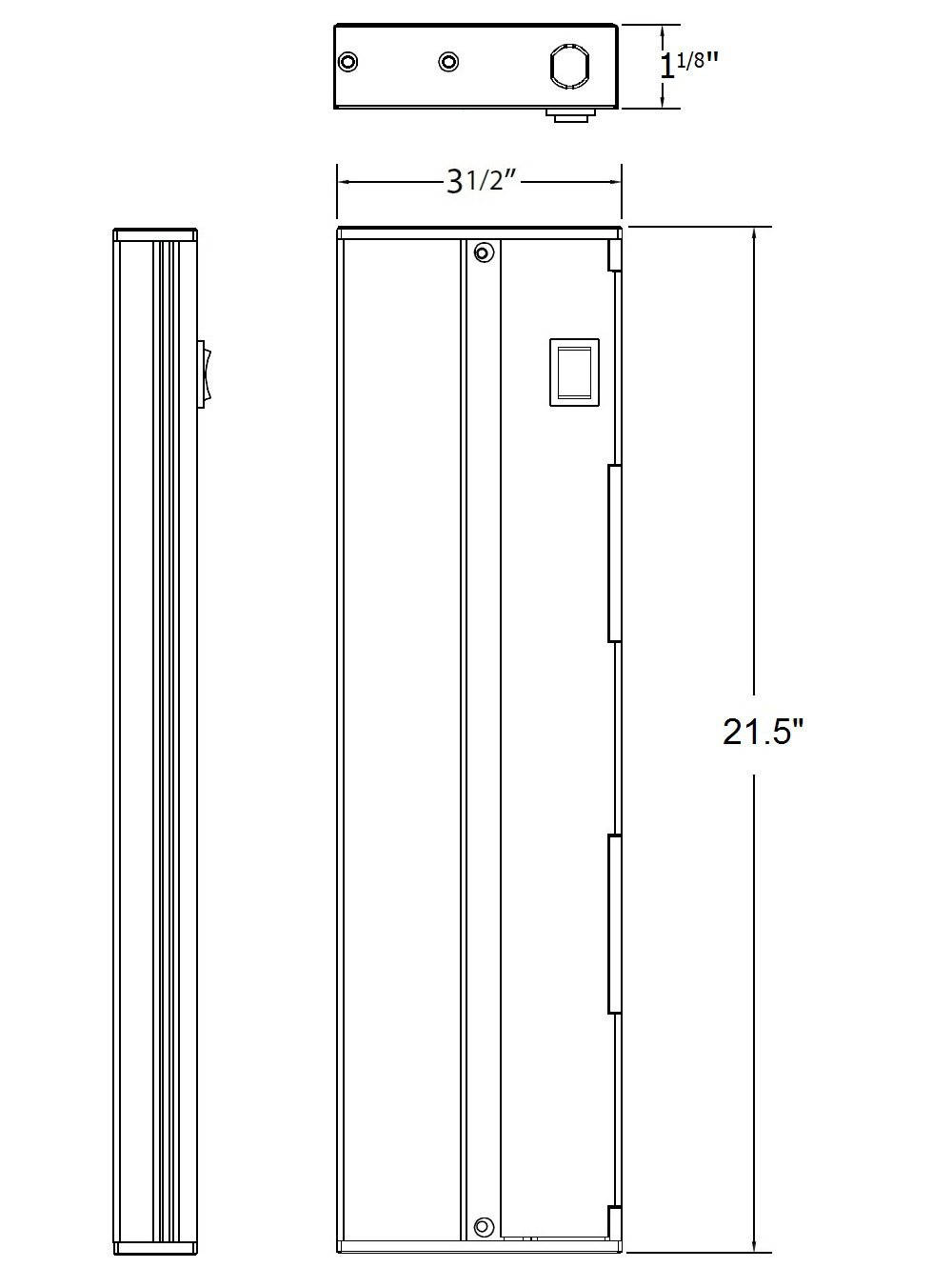 NICOR Lighting 21-Inch Under Cabinet LED Lighting, White (NUC-2-21-WH)