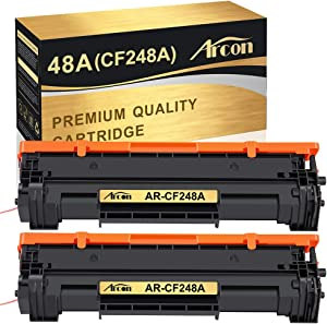 Arcon Compatible Toner Cartridge Replacement for HP 48A CF248A HP M15W HP M28W M29W HP Laserjet Pro M15w M15a M16a M16w HP Laserjet MFP M28w M28a M29a MFP M29w 48A CF248A Printer Toner (Black,2 Packs)