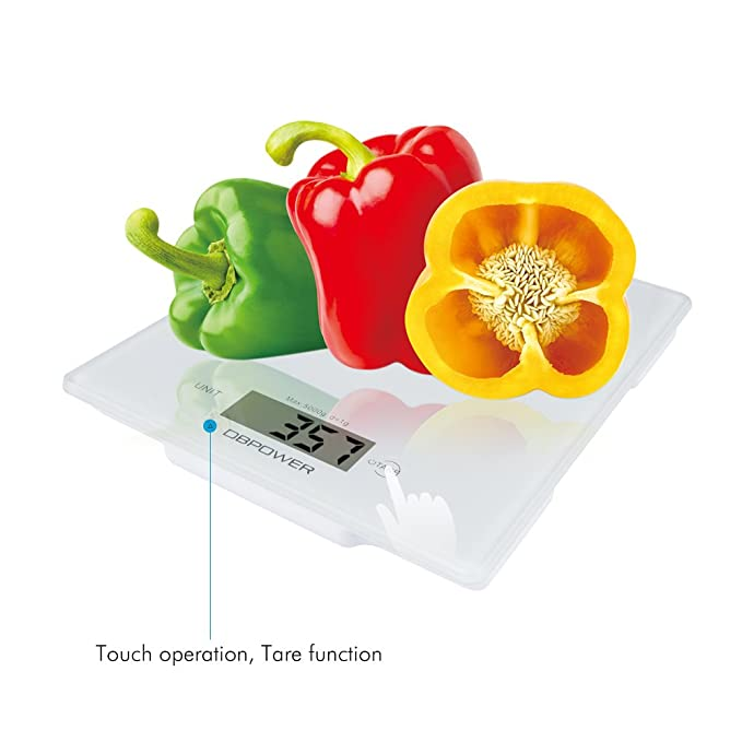 DBPOWER Digital Balanza de Cocina, Cocina Escala, Multifunción Cocina Alimentos escala de medición, 11 libras / 5 kg High Precision Touch Sensitive, ...