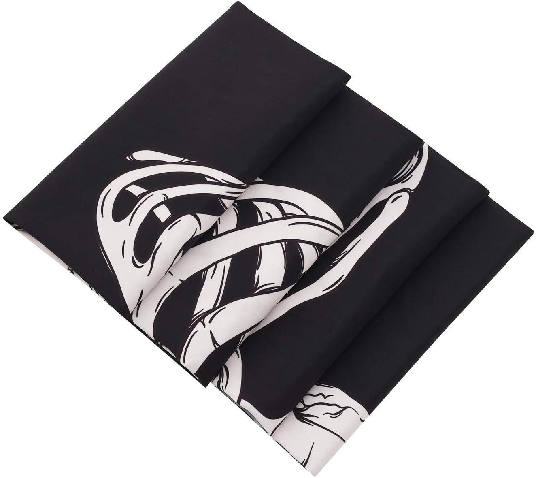 Skull Tapestries Arazzo da Parete con Teschio e Scheletro Umano HZAMING 51.2 x 59.1 da Appendere alla Parete Decorazione da Parete in Bianco e Nero
