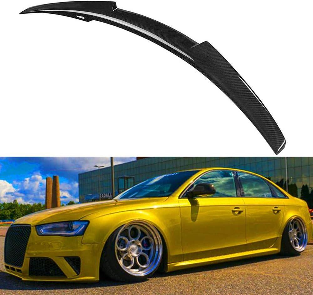 F/ür M4 Style Real Carbon Fiber Auto Heck Kofferraum Kofferraum Lip Spoiler Wing Lip Big F/ür Audi A4 B8.5 Limousine 4Dr Typ D 2013 2014 2015 2016 OTBKNB Heckspoiler