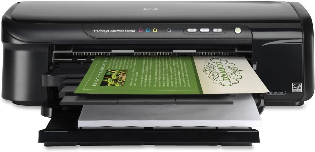 HP Impresora HP Officejet 7000 de formato ancho - Impresora de tinta (330 x 1.117,6 mm, 150 páginas, 12 ppm, 10 ppm, Interface graphique HP PCL 3, 32 MB): Amazon.es: Informática