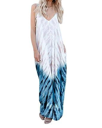 Damen Sommer Urlaub Freizet Party Maxikleid Strandkleid Größe 36 38 40