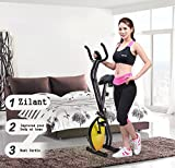 OnlineWorld Fitness Exercise Magnetic Exercise Bike / Exercise Cycle X-Bike Folding Peddle Magnetic Pedal Bike Exercise Cycle Complete Home Gym Trainer for Men & Women (Yellow) from the house of Zilant