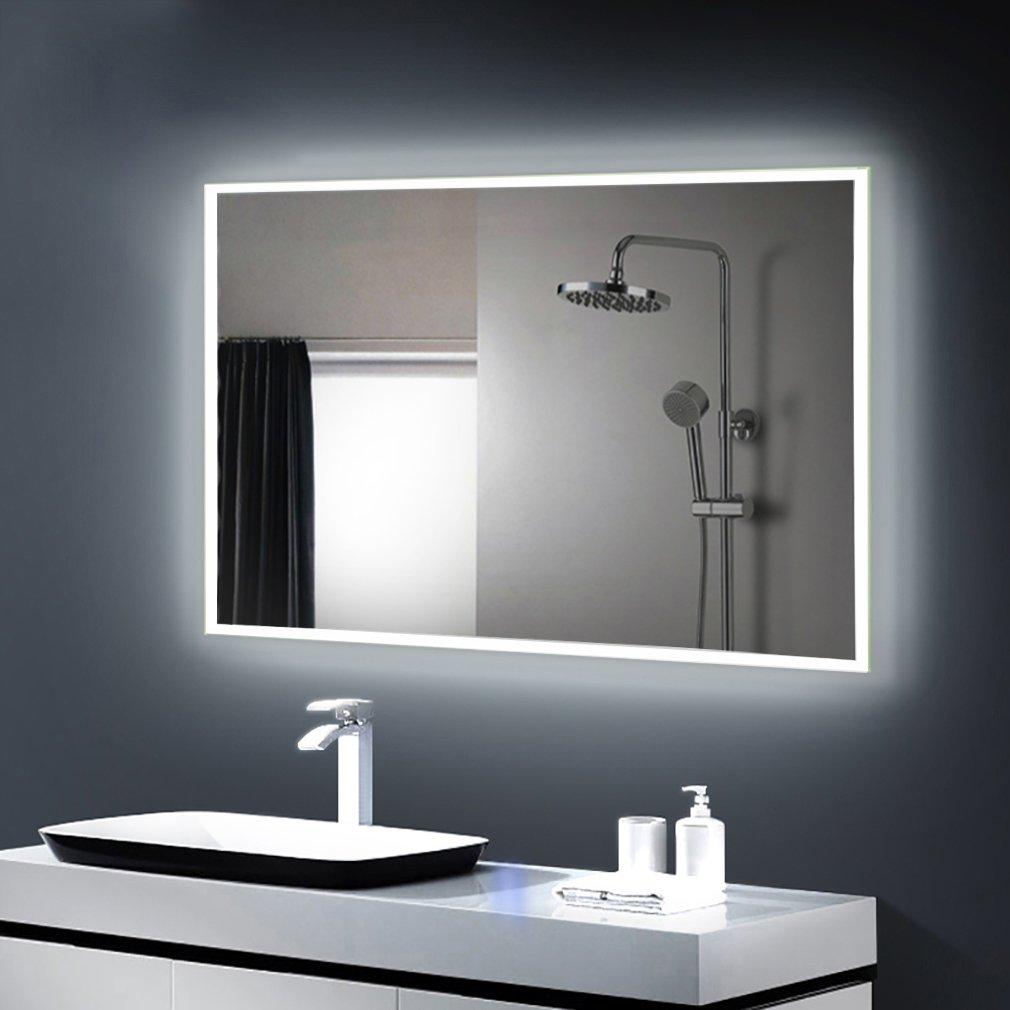 Anten® Miroir LED Lampe de Miroir Éclairage Salle de Bain Miroir ...