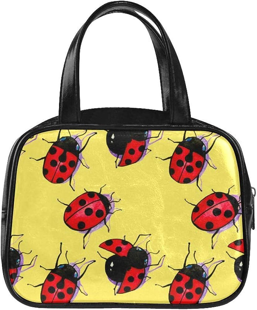Handbag Tote Bag A Large Number Of Lovely Seven-star Ladybug Fashion Bag For Girls Womans Tote Bag Pu Leather Top Handle Satchel Woman Hiking Bag