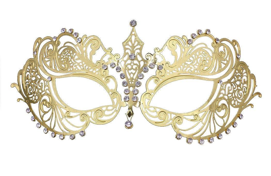 Crown Laser Cut Metal Women's Masquerade Mask Mardi Gras Mask