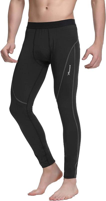 REEHUT Pantalon de Compression Collant Legging Homme Sport Running Fitness Musculation (Rayure NoireRayure GriseRayure Rouge) S 3XL