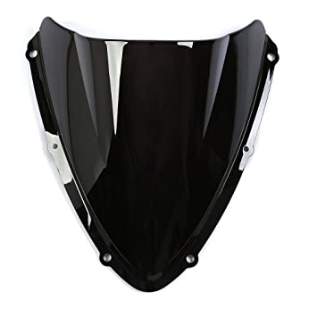 CICMOD Parabrisas Moto C/úpula Parabrisas Moto Antiviento Windshield WindScreen para Suzuki GSXR600//GSXR750 K8 2008 2009 2010 Negro