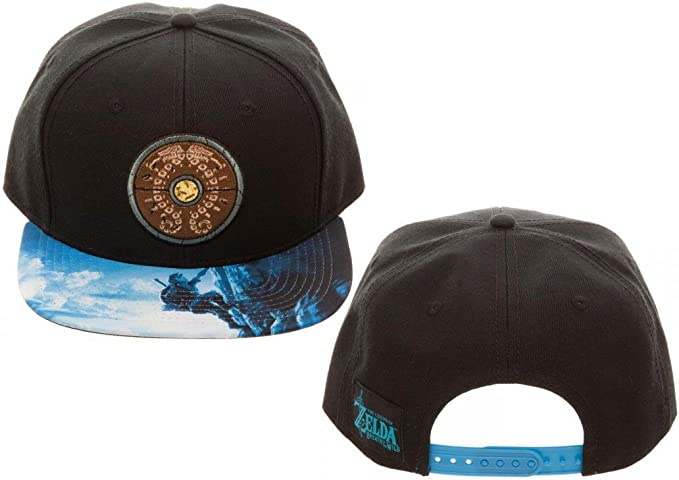 new arrival 0a8c4 f51a1 Bioworld Legend of Zelda Breath of The Wild Snapback Hat Standard Black