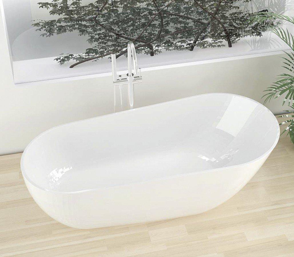 Freistehende Badewanne aus Mineralguss KZOAO-1488 Matt: Amazon.de ...