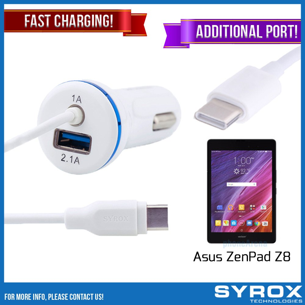 Syrox 50-Pack Type-C Car Charger & Port, Reversible 4 ft Fast Charging for Asus ZenPad Z8, Samsung Galaxy Note 8, S8 Plus, LG V30, V20, G6, G5, Google Pixel, 6P, Nintendo Switch and All