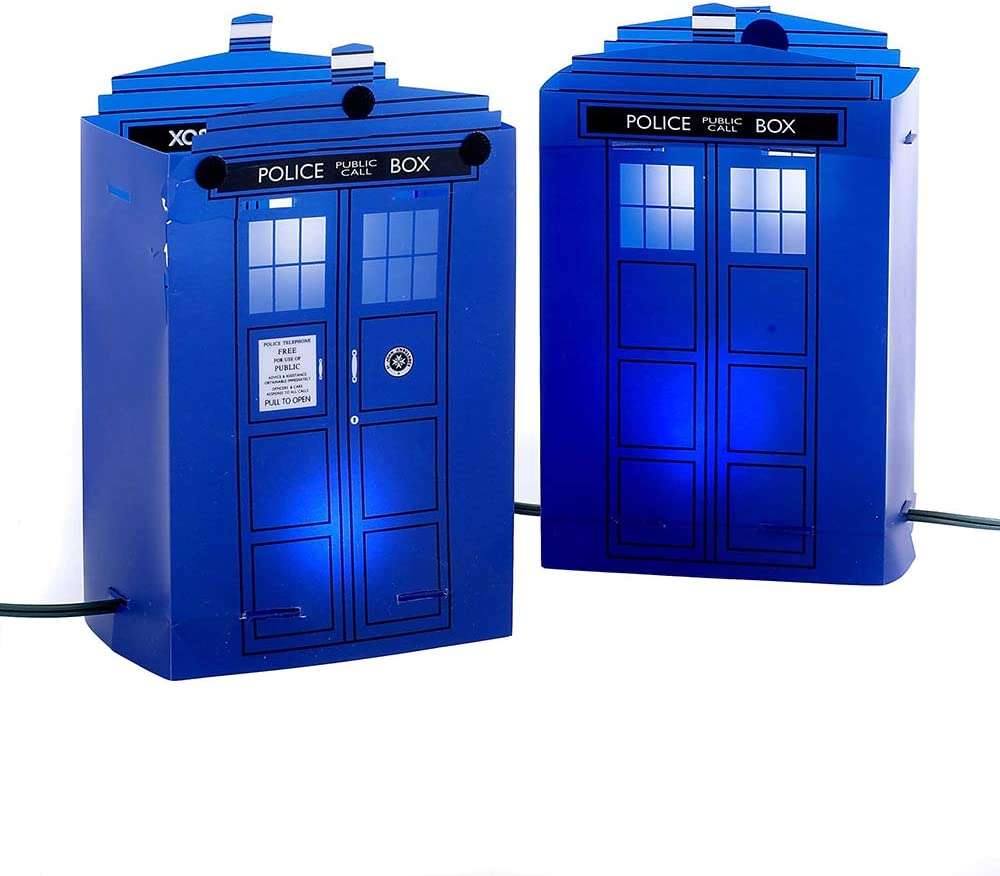 Kurt Adler 5-Light Doctor Who Tardis Luminary Outdoor Decor