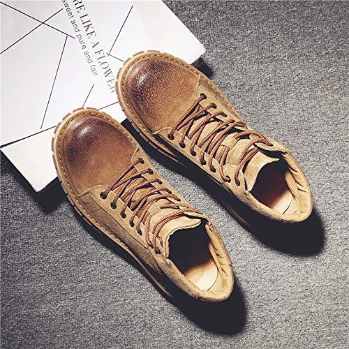 Shukun Herren Stiefel Herbst Männer Mitte Stiefel Martin Stiefel Herren Wildlederstiefel Hoch Hilfe Männer Schuhe Werkzeug Schuhe Stiefel