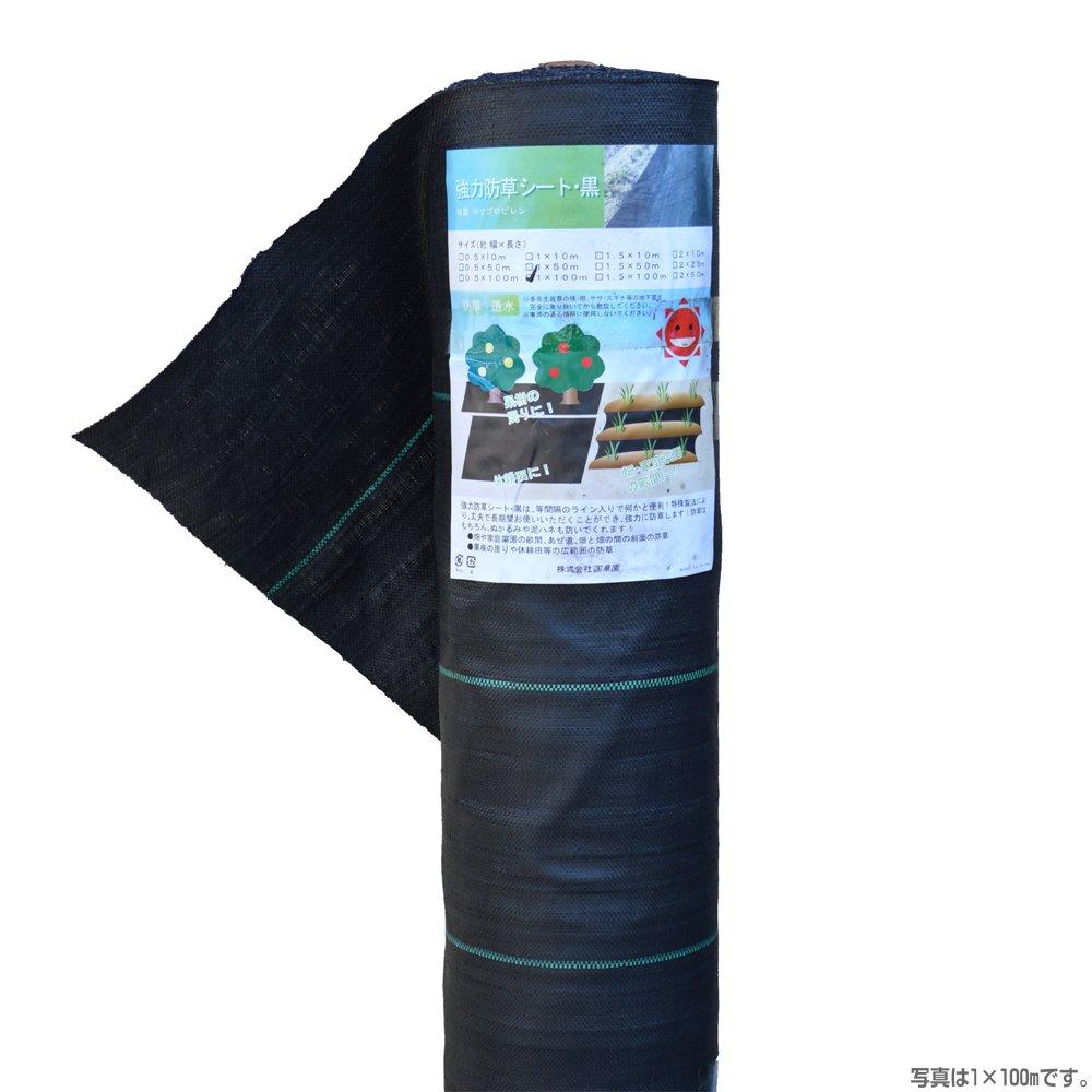 国華園 強力防草シート黒 幅2m×長さ25m 1巻1組 B00WM5QZ5K