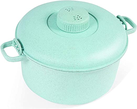 Easy /& Fast Microwave Cookware for Rice Beige Pasta Handy Gourmet Eco Friendly Microwave Pressure Cooker Easy Microwave Cooking Chicken and More Non-toxic /& Bio-degradable Material