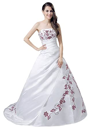 Amazon.com  Sofinadress Women s Applique Strapless Prom Gown Embroidery  Wedding Dress SD042  Clothing a3c7d7cd99