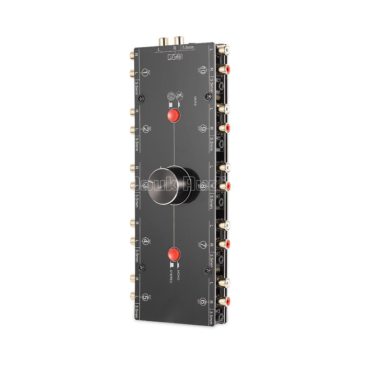 Nobsound Little Bear MC110 1-IN-10-OUT 3.5mm/RCA Mono/Stereo Analog Audio Switcher; Passive Speaker/Headphone/Amplifier Manual Selector; Audio Splitter Preamp Audio Sharing (1-IN-10-OUT) by Douk Audio (Image #3)