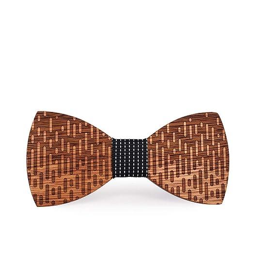 Corbatas de Lazo para Hombre Personalidad Geométrica Moire Stripe ...