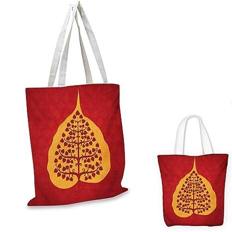 Amazon.com: Leaf royal shopping bag Artistic Design of Bodhi ...