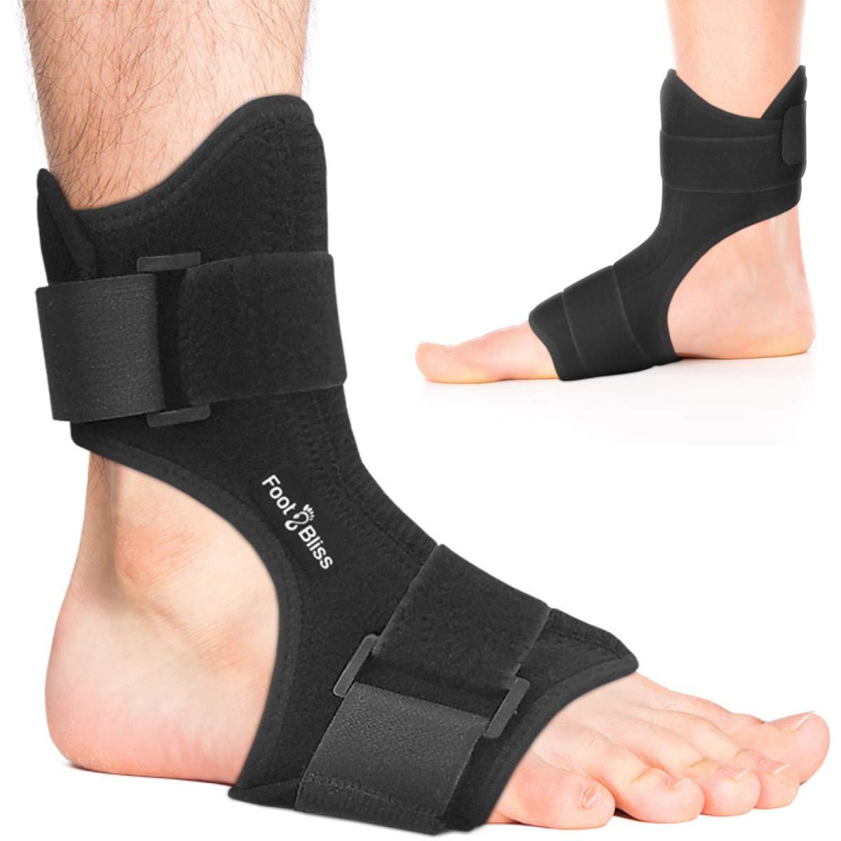 Plantar Fasciitis Night Splint - Drop Foot Support Brace - Dorsal Planter Fasciitis Splints for Right or Left Foot. Support Sleep, Arthritis, Tendonitis, Dorsiflexion, Heel Calf Stretcher, Men & Women