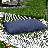 Sunnydaze Hammock Pillow, Navy Blue, 30 Inch Long x 12 Inch Wide